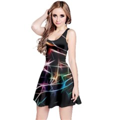 Lights Star Sky Graphic Night Reversible Sleeveless Dress by HermanTelo