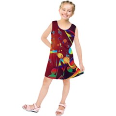Dance Music Treble Clef Sound Kids  Tunic Dress
