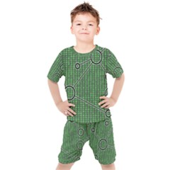 Network Communication Technology Kids  Tee And Shorts Set by Bajindul