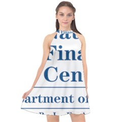 Logo Of Usda National Finance Center Halter Neckline Chiffon Dress  by abbeyz71