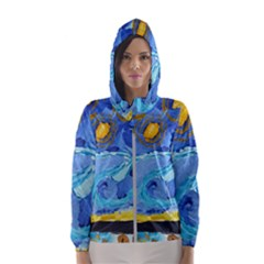 Painting Illustrations Vincent Van Gogh Women s Hooded Windbreaker