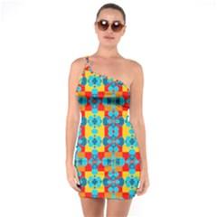 Pop Art  One Soulder Bodycon Dress by Sobalvarro