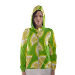 Lemon Fruit Healthy Fruits Food Women s Hooded Windbreaker