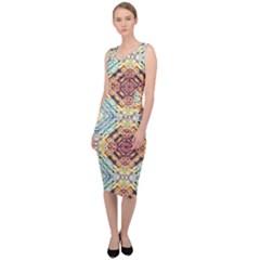 Pattern Sleeveless Pencil Dress by Sobalvarro