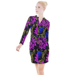 Botany  Button Long Sleeve Dress by Sobalvarro