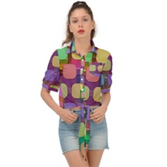 Pattern  Tie Front Shirt  by Sobalvarro