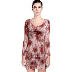 Abstract  Long Sleeve Bodycon Dress by Sobalvarro