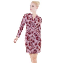Abstract  Button Long Sleeve Dress by Sobalvarro