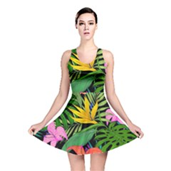Tropical Greens Reversible Skater Dress by Sobalvarro