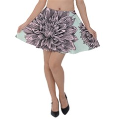 Flowers Velvet Skater Skirt by Sobalvarro