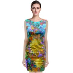 Apo Flower Power Classic Sleeveless Midi Dress by WolfepawFractals