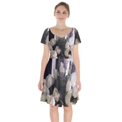 Tulips 1 1 Short Sleeve Bardot Dress