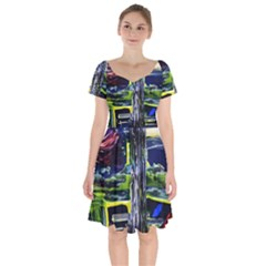Between Two Moons 7 Short Sleeve Bardot Dress