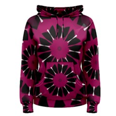 Pink And Black Seamless Pattern Women s Pullover Hoodie