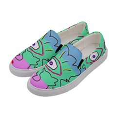 Designed By Revolution Child  u G L Y  women s Canvas Slip Ons by designedbyrevolutionchild