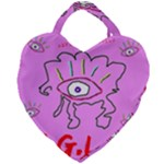 DESIGNED BY REVOLUTION CHILD  U.G.L.Y  Giant Heart Shaped Tote
