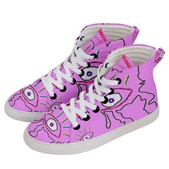 Designed By Revolution Child  u G L Y   Women s Hi Top Skate Sneakers by designedbyrevolutionchild