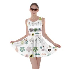 Cute Flowers Plants Big Collection Skater Dress