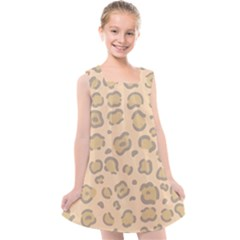 Leopard Print Kids  Cross Back Dress by Sobalvarro