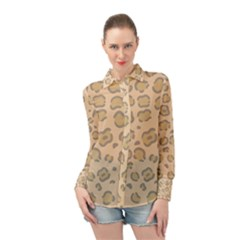 Leopard Print Long Sleeve Chiffon Shirt by Sobalvarro