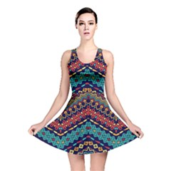 Ethnic  Reversible Skater Dress by Sobalvarro