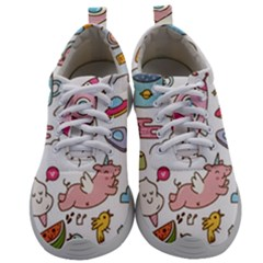 Set Kawaii Doodles Mens Athletic Shoes by Vaneshart