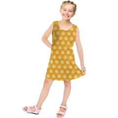 Abstract Honeycomb Background With Realistic Transparent Honey Drop Kids  Tunic Dress