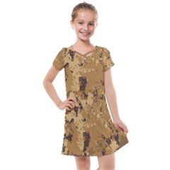 Abstract Grunge Camouflage Background Kids  Cross Web Dress by Vaneshart