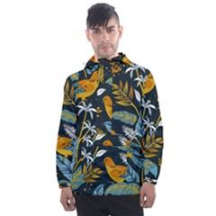 Birds Nature Design Men s Front Pocket Pullover Windbreaker by Vaneshart