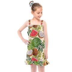 Tropical Pattern Background Kids  Overall Dress by Vaneshart