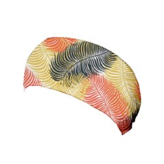 Tropical Seamless Pattern With Exotic Palm Leaves Yoga Headband by Vaneshart