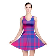 Bisexual Plaid Reversible Skater Dress