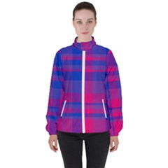 Bisexualplaid Women s High Neck Windbreaker by NanaLeonti