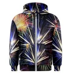 Fireworks Rocket Night Lights Men s Zipper Hoodie