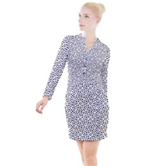 I See Spots Button Long Sleeve Dress by VeataAtticus