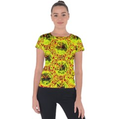 Cut Glass Beads Short Sleeve Sports Top  by essentialimage