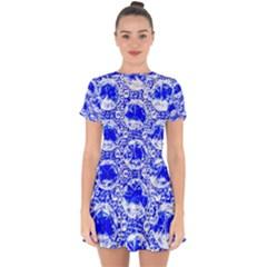 Cut Glass Beads Drop Hem Mini Chiffon Dress by essentialimage