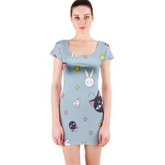 Sailor Moon Short Sleeve Bodycon Dress by Sobalvarro