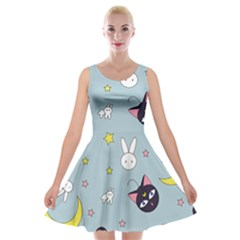 Sailor Moon Velvet Skater Dress by Sobalvarro
