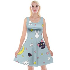Sailor Moon Reversible Velvet Sleeveless Dress by Sobalvarro