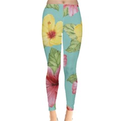 Hibiscus Leggings  by Sobalvarro