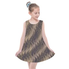 Texture Butterfly Skin Waves Kids  Summer Dress by Vaneshart