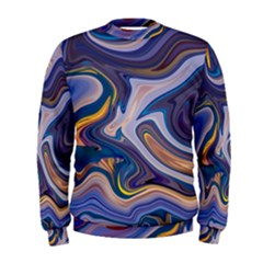 Liquid Marble Background Men s Sweatshirt by Vaneshart