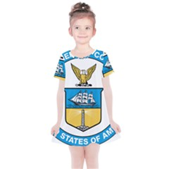 Seal Of United States Department Of Commerce Kids  Simple Cotton Dress