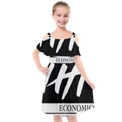 Logo Of Economics And Statistics Administration Kids  Cut Out Shoulders Chiffon Dress by abbeyz71