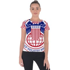 Seal Of United States Department Of Commerce Bureau Of Industry & Security Short Sleeve Sports Top  by abbeyz71