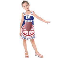 Seal Of United States Department Of Commerce Bureau Of Industry & Security Kids  Sleeveless Dress