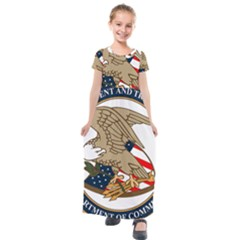 Seal Of United States Patent And Trademark Office Kids  Short Sleeve Maxi Dress by abbeyz71