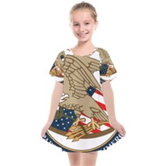 Seal Of United States Patent And Trademark Office Kids  Smock Dress by abbeyz71