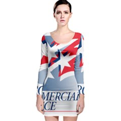 Logo Of United States Commercial Service  Long Sleeve Bodycon Dress